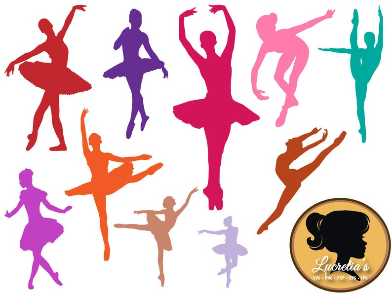 Dancer, Ballet, Modern Dance, Clipart, SVG, Vector, ai,png, eps, png, dxf,  Template,Overlays, Silhouettes.