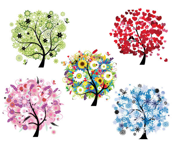 Modern Tree Clipart.