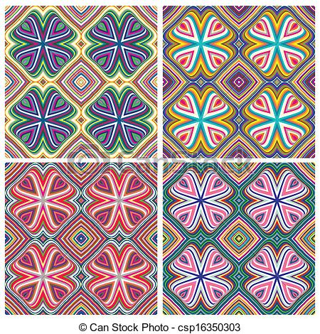 Vector Clipart of Modern Indian Textile Design.