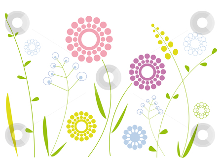 Modern floral clipart designs.