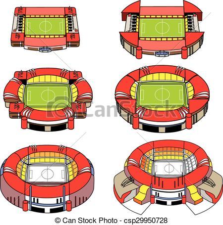Vector Illustration of Modern Football Stadium.