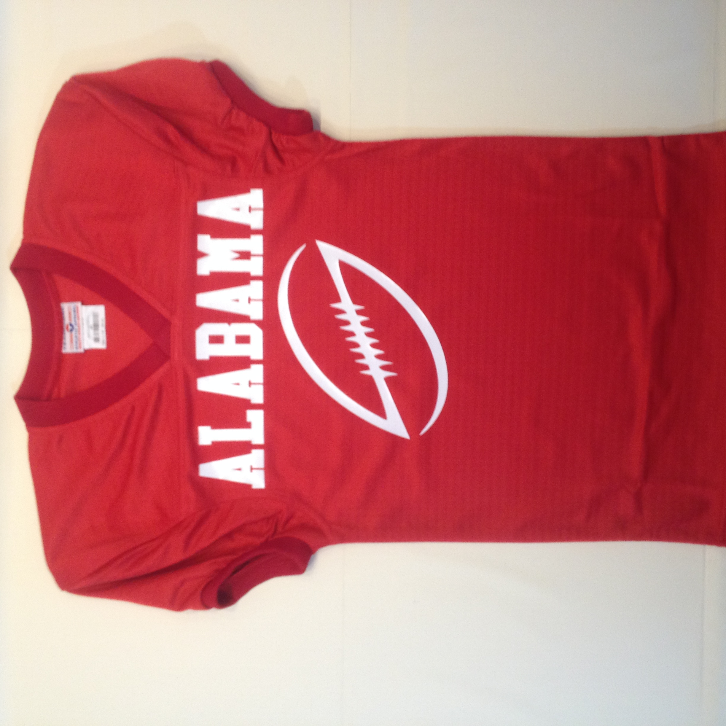 Alabama #crimson red custom #football jersey with cool modern.