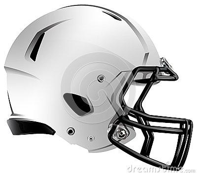 Modern Football Helmet Illustration Royalty Free Stock Images.