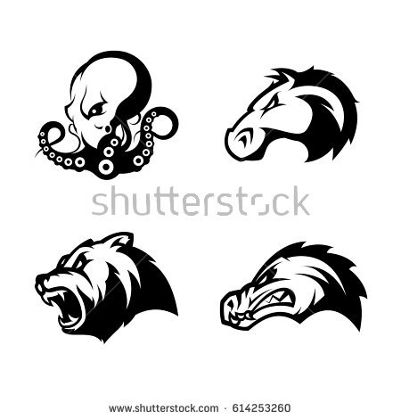 Furious Horse Head Sport Club Vector Stock 610409855