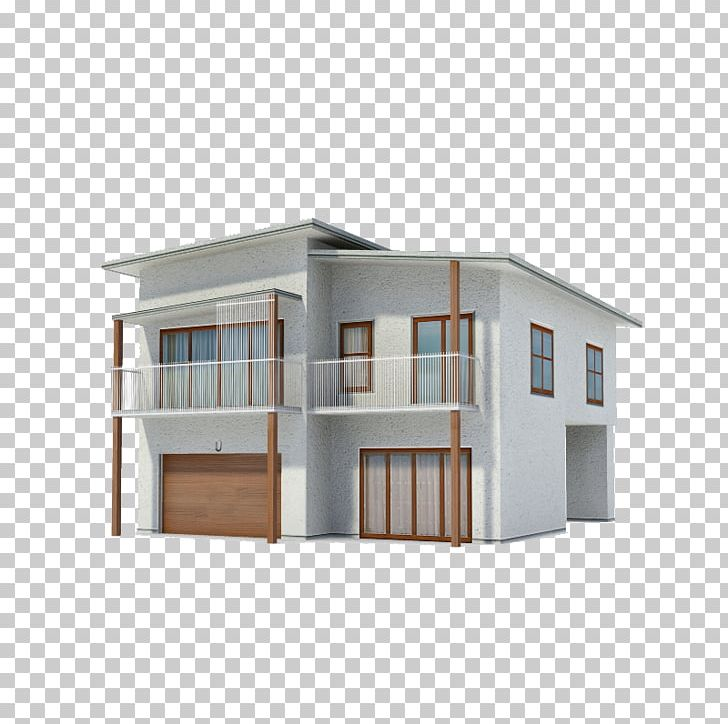 Show House 3D Modeling Modern Architecture 3D Computer.