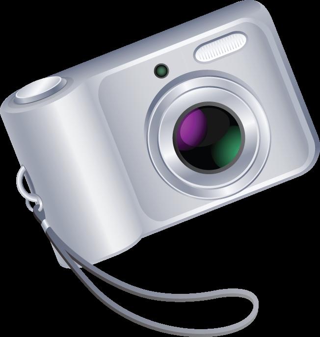 Free Modern Camera Clip Art.