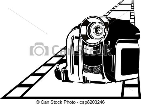 Clip Art Vector of Camcorder.