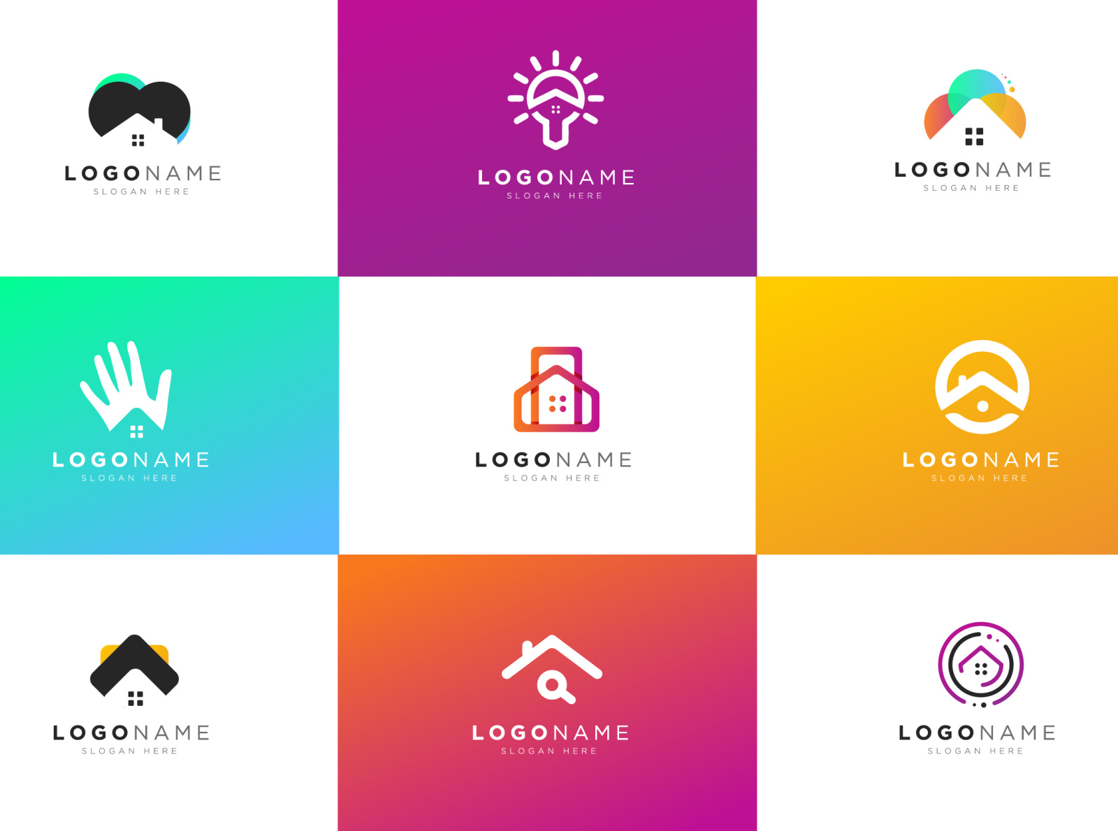 Rejected Real Estate Logos by John Alee on Dribbble.