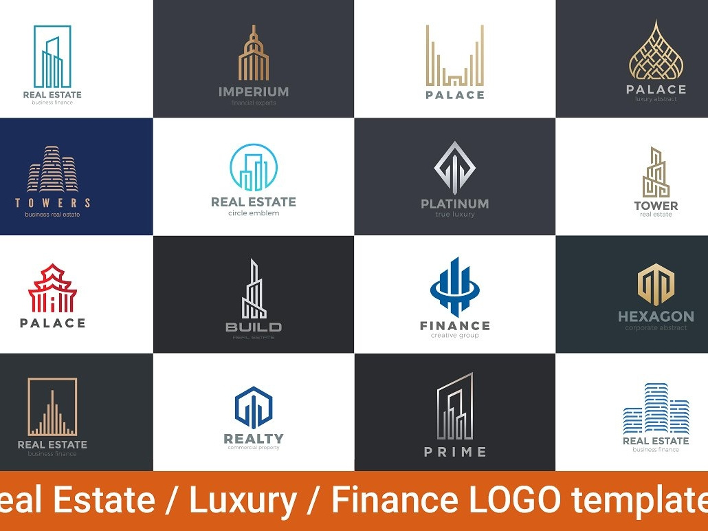 Real Estate Luxury Finance Logos by Logo Templates on Dribbble.