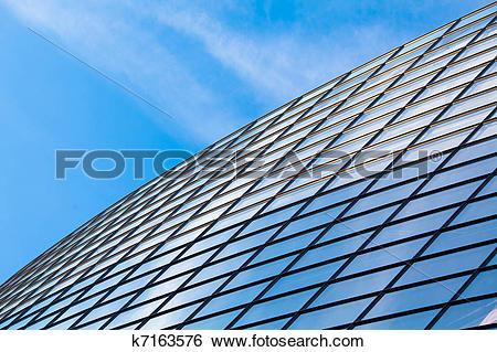 Stock Illustration of Modern glass building roof k7163576.