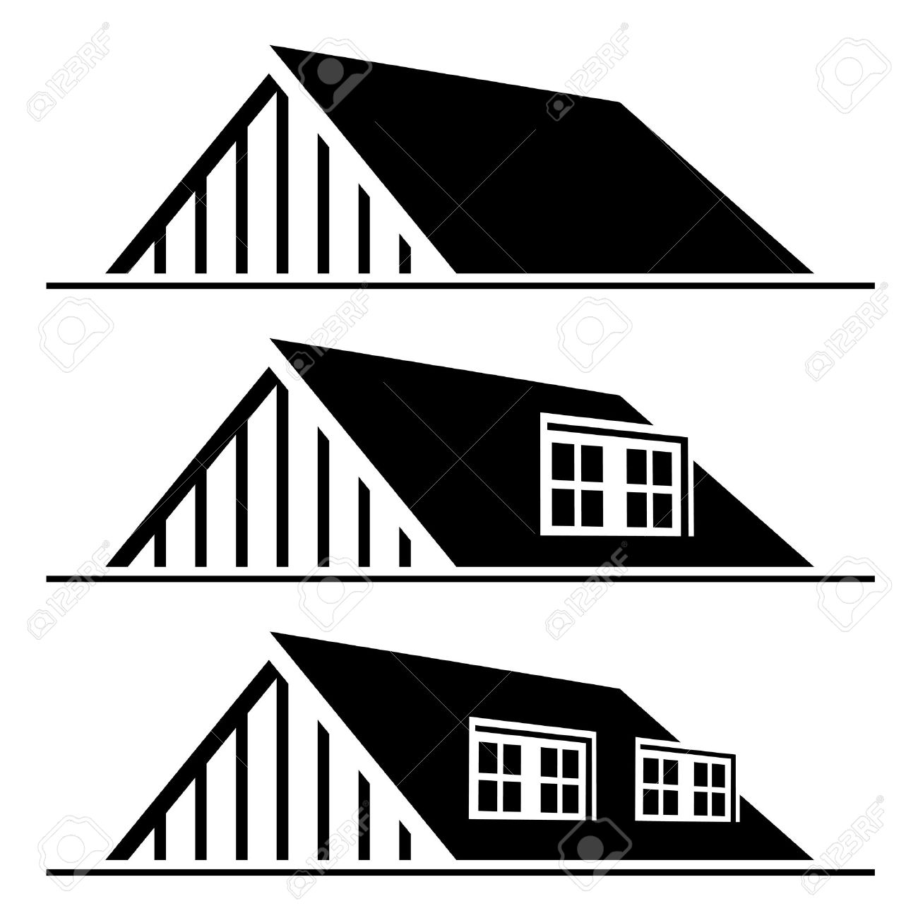 Roof silhouette clipart.