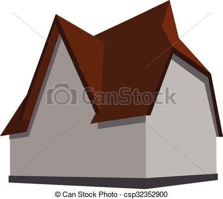 Vector Clipart of Modern house.