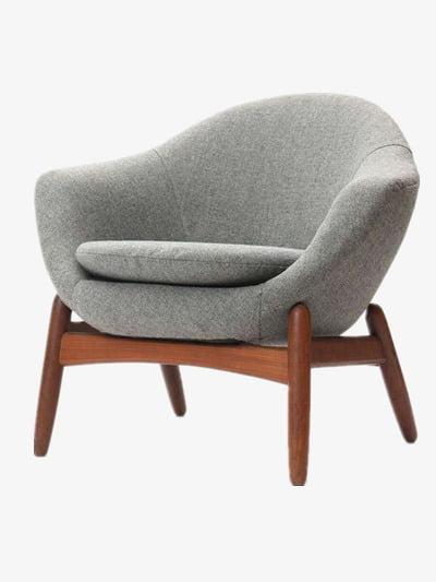 Modern sofa PNG clipart.