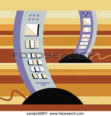 Stock Image of mobile phone, wireless phone, business tools.