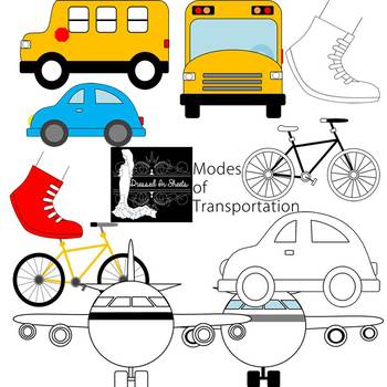 Modes of Transportation Clipart.