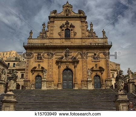 Stock Photograph of Modica, St. Peter k15703949.