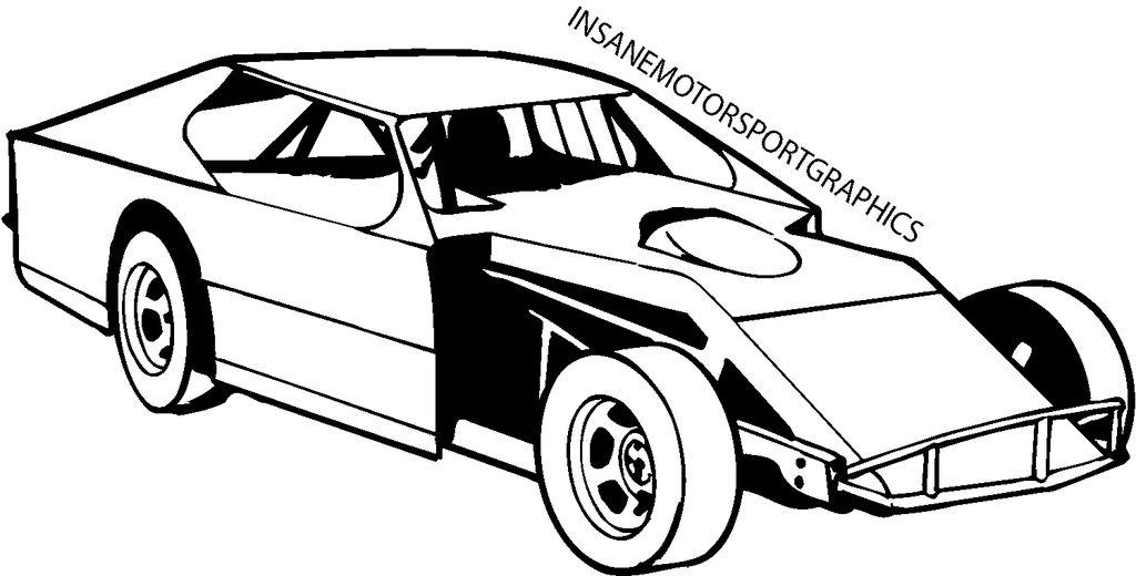 Modified Race Car Clipart.