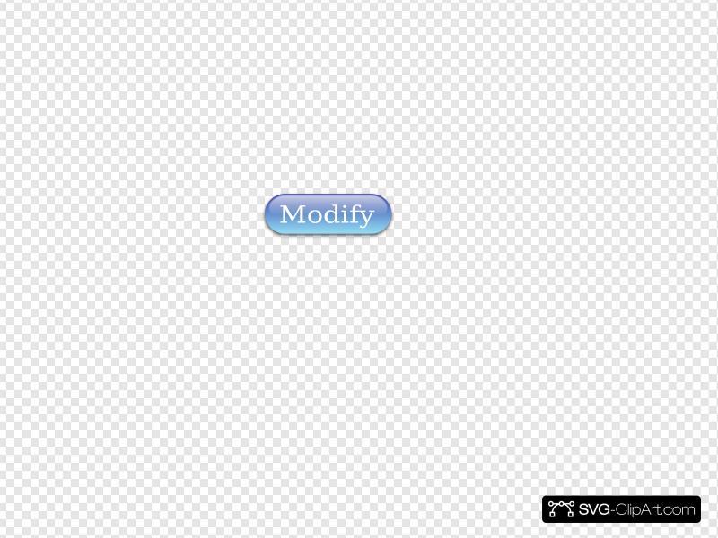 Modify Button Blue Clip art, Icon and SVG.