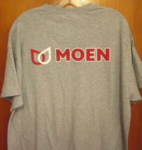 Details about MOEN FAUCETS logo tee XL kitchen fixtures North Olmsted T  shirt Ohio bathtub.