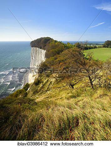 "Stock Photo of ""Landscape with the chalk cliffs of Mons Klint, Mon."