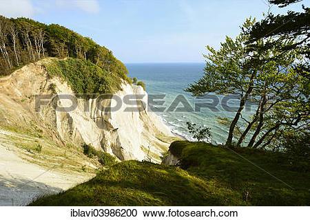 "Stock Photography of ""The chalk cliffs of Mons Klint, Mon or Moen."