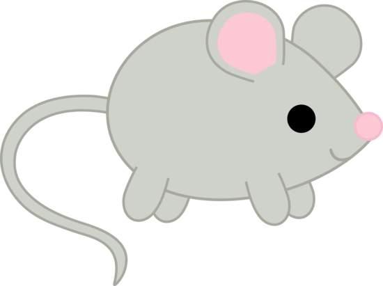 Cute little mouse clipart.