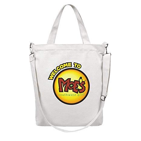 Amazon.com: Canvas Tote Bag Moe\'s Southwest Grill Logos.