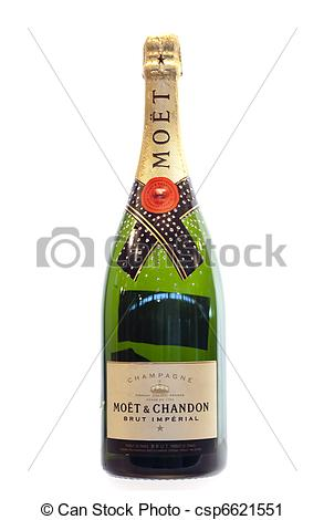 Stock Photography of Moet Champagne.