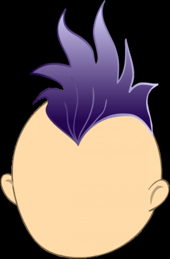Mohawk hair clipart.
