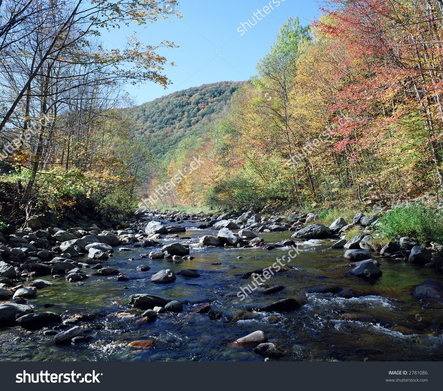 Mohawk Trail Massachusetts Cold River Stock Photo 2781086.