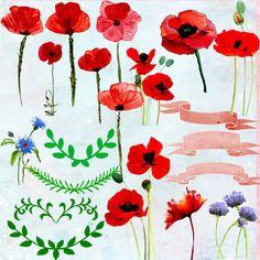 Red Poppy Brooch Womens Gift, Red Silk Flower Pin, Poppy Pin on.