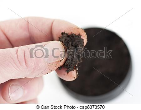 Stock Photography of pinch of moist snuff.