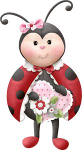 Lady Bug Cartoon PNG Clip Art Image.