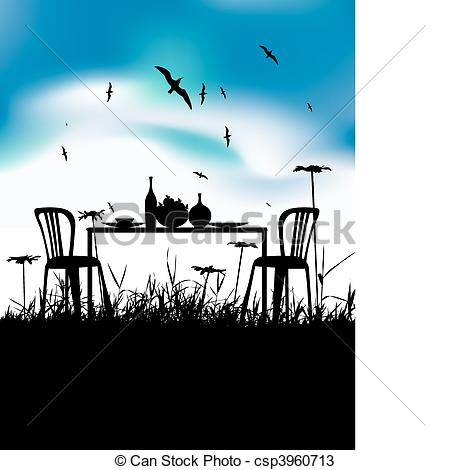 Romantic Dinner Clipart.