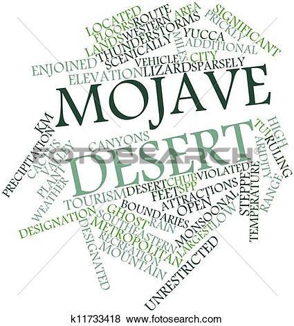 Stock Illustration of Mojave Desert k11733418.