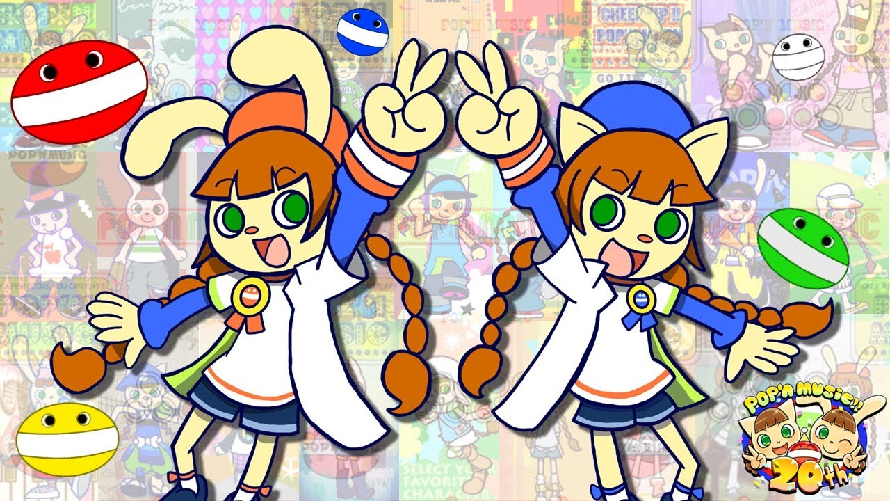 Evolution of Title Screens in Pop\'n Music series (1998.