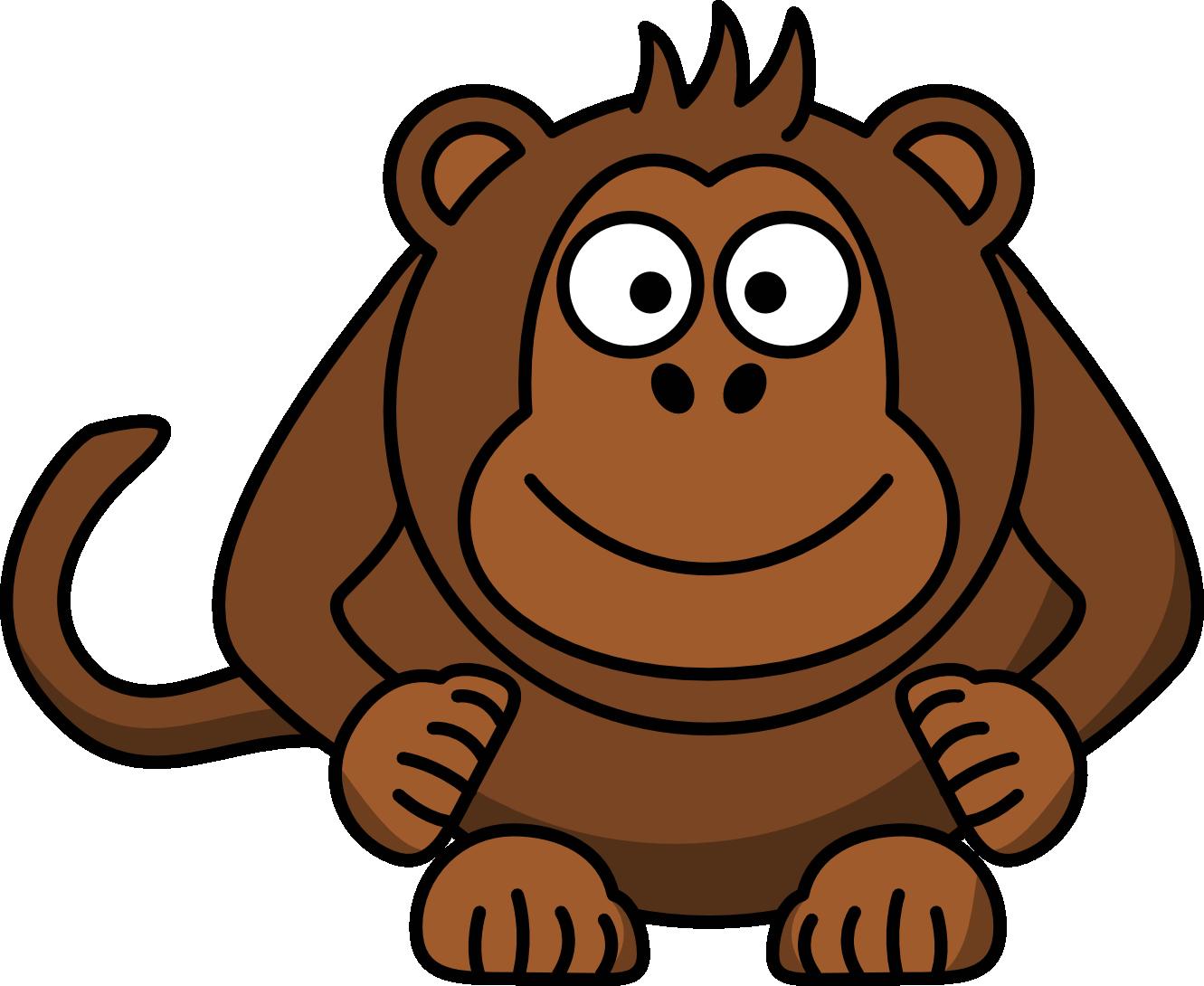 Boy Monkey Clip Art.