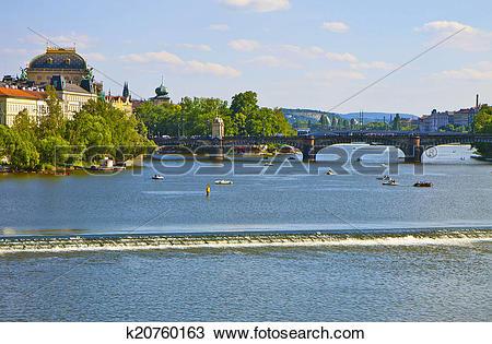 Stock Photo of Prague, river Moldau k20760163.