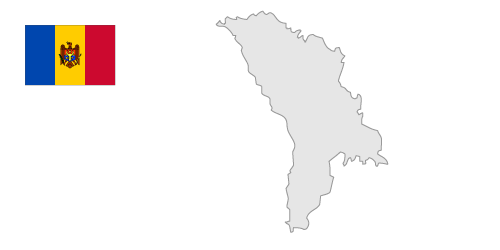 Republic of Moldova Map / Free Illustration.