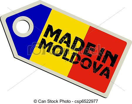 Vectors Illustration of vector label Made in Moldova csp6522977.