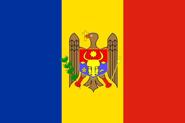 Moldova Flag SVG Vector file, vector clip art svg file.