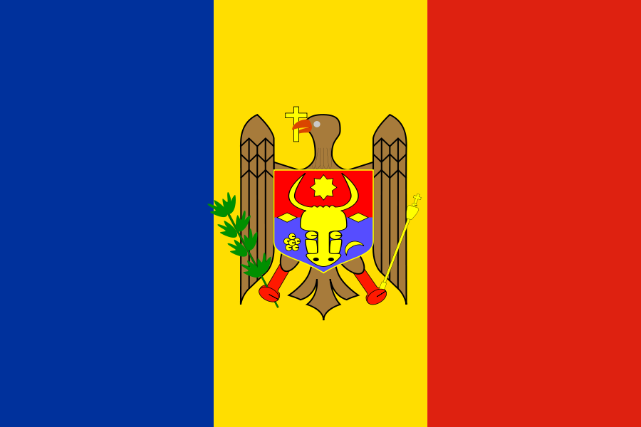 Moldova Flag SVG Vector file, vector clip art svg file.