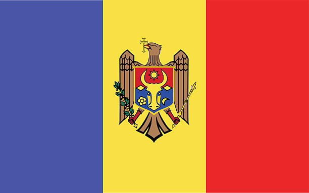 Moldova Flag Clip Art, Vector Images & Illustrations.