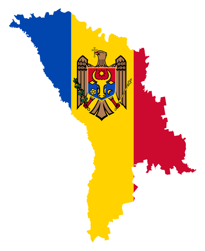 Moldova Map Clipart.