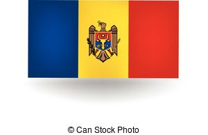 Moldovan flag Vector Clipart Royalty Free. 108 Moldovan flag clip.