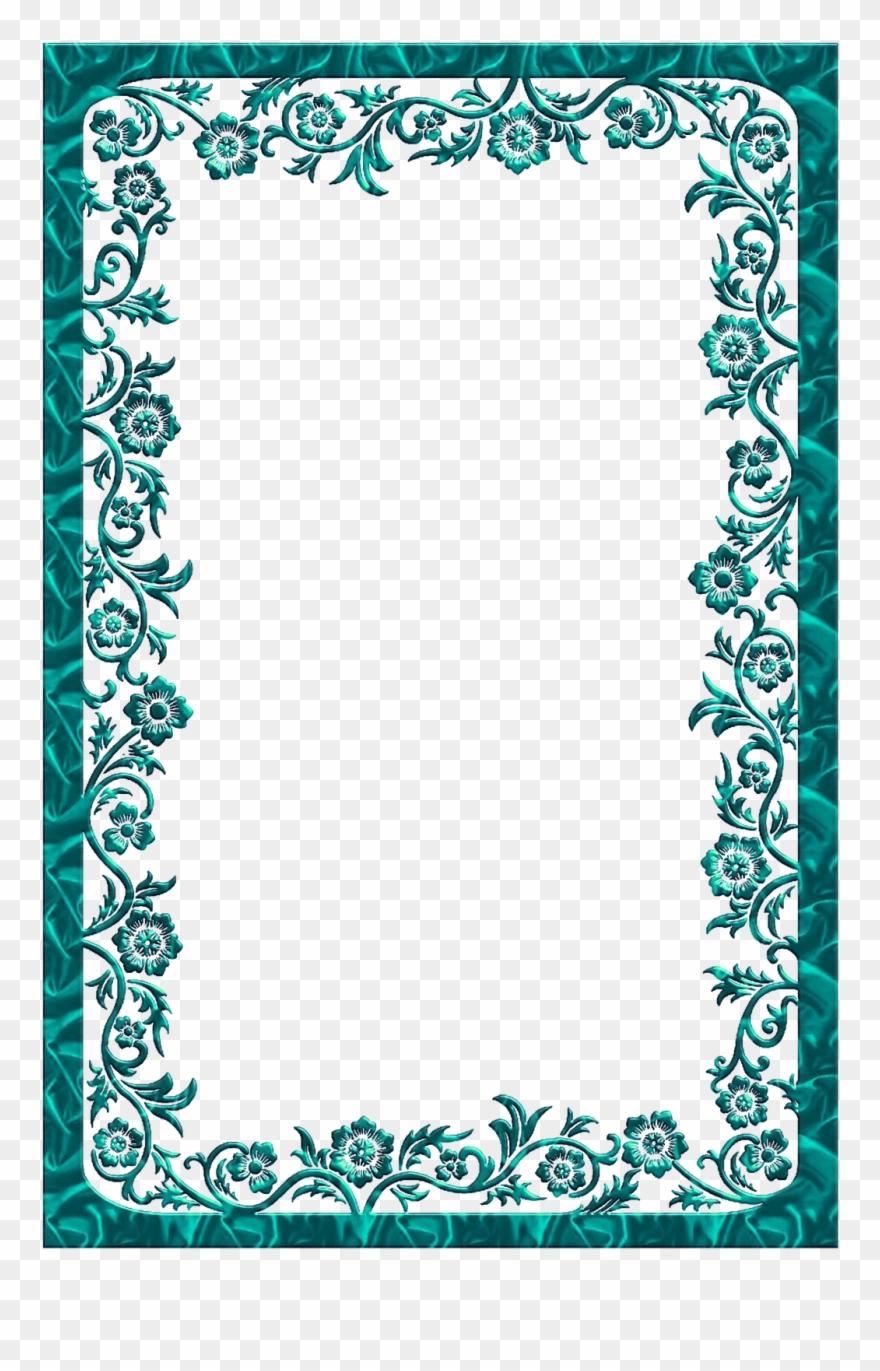 Arabesco Moldura Azul Png Clipart (#1265712).