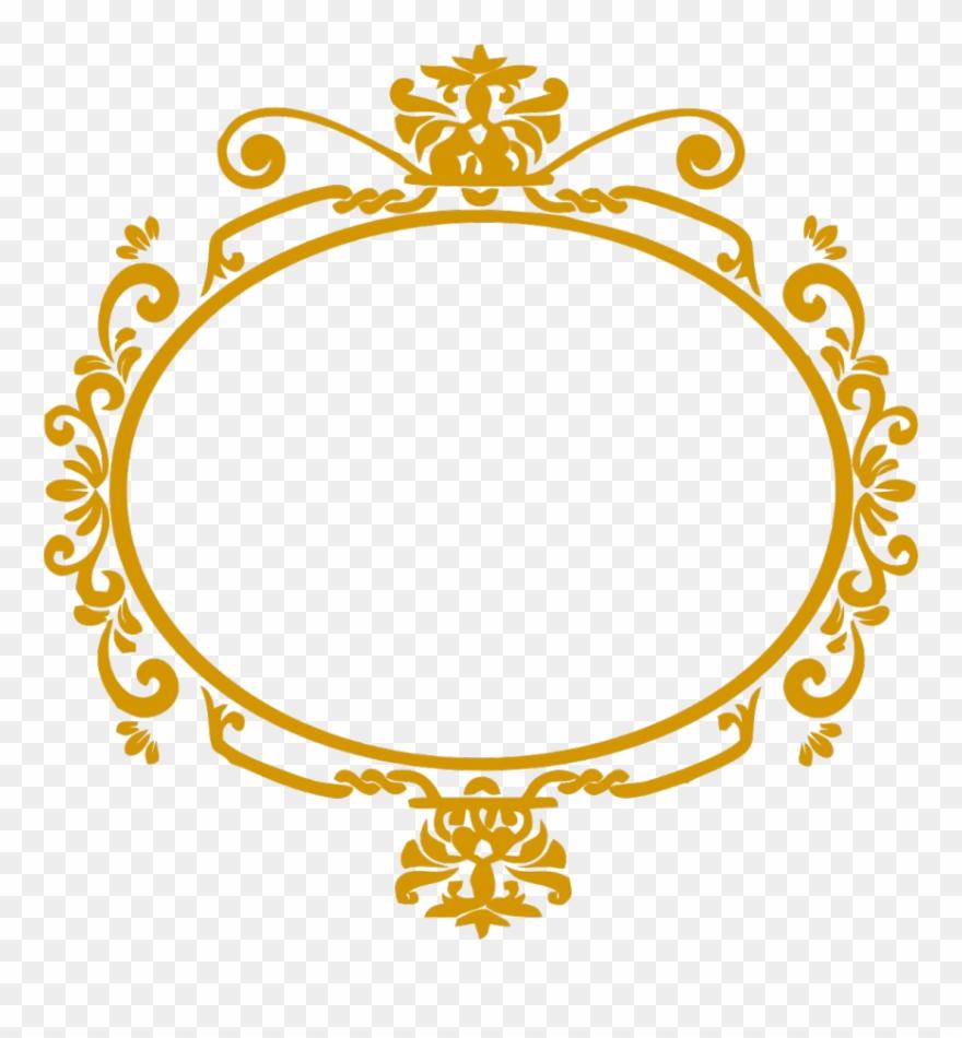 Moldura Arabesco Dourado Png Clipart (#707477).