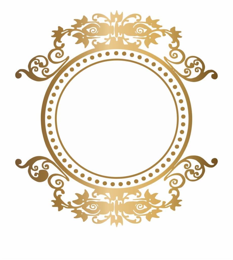 Arabesco Dourado Vetor Png.