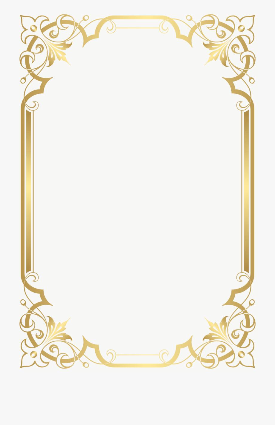Gold Frame, Picture Frame.