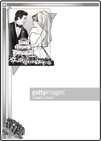 Moldura DE Casamento imagens vetoriais.